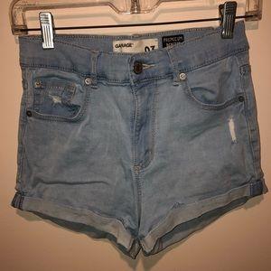 Hi-Rise Denim Shorts